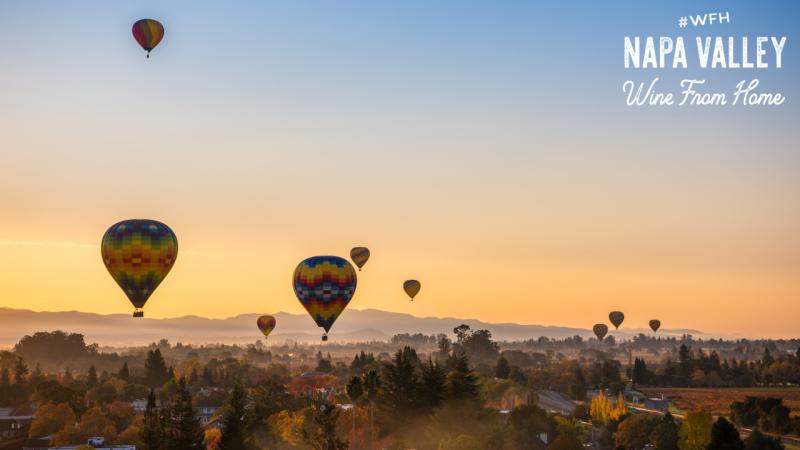 Zoom Background Hot Air Balloon Sunrise