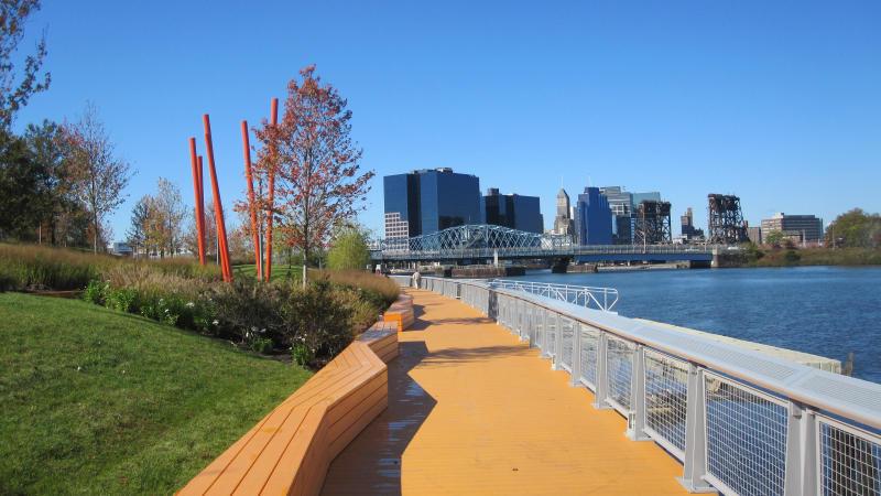 Paved path along Riverfront Park