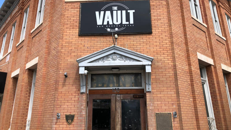 The front of The Vault in Downtown San Marcos