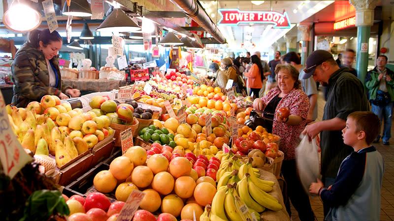 Pike Place Market Seattle Fruit & Vegetable Market