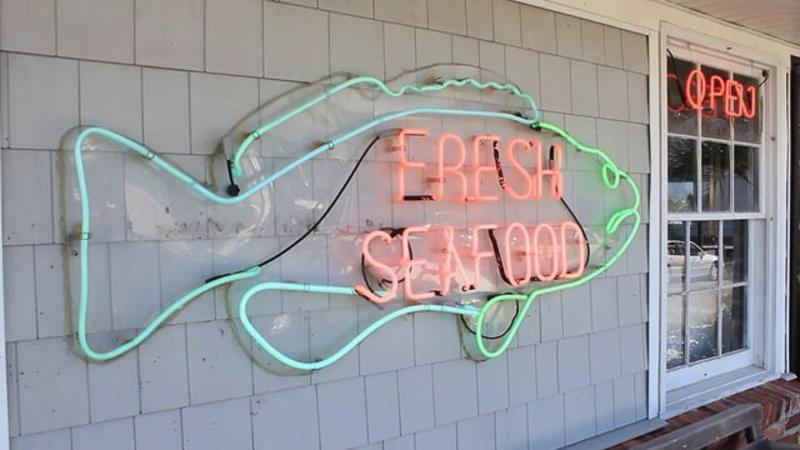 Seafood at Wrightsville Beach