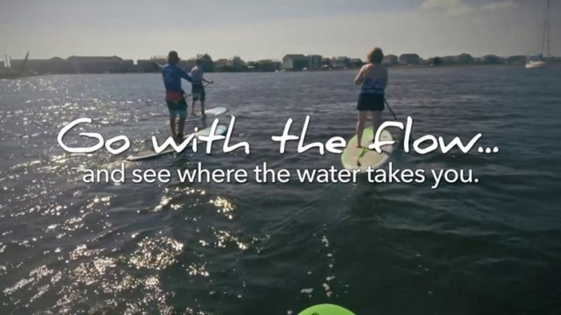 Go With the Flow....Standup Paddleboarding in Carolina Beach