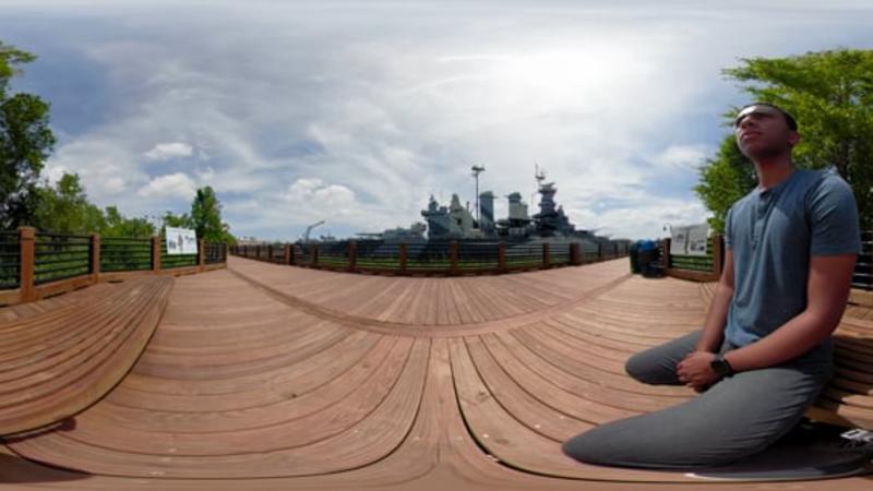 Battleship NORTH CAROLINA SECU Memorial Walkway