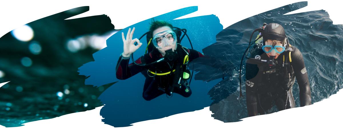 Certified Scuba Divers Exploring Lake Superior