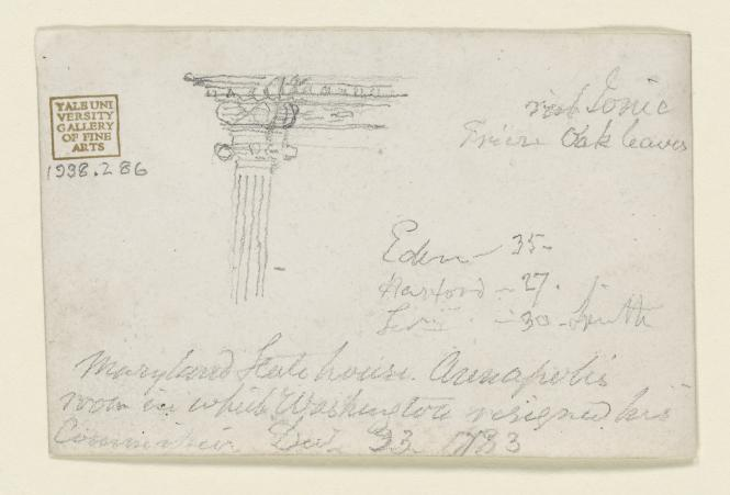 Letter at the Maryland State House detailing the design.