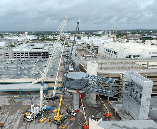 Construction on the new 1,818 space Heron Parking Garage