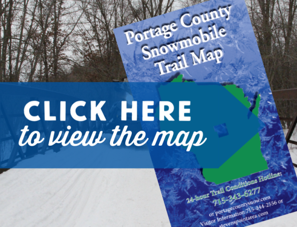 Head out on the 300 miles of snowmobile trails in the Stevens Point Area with this helpful map.