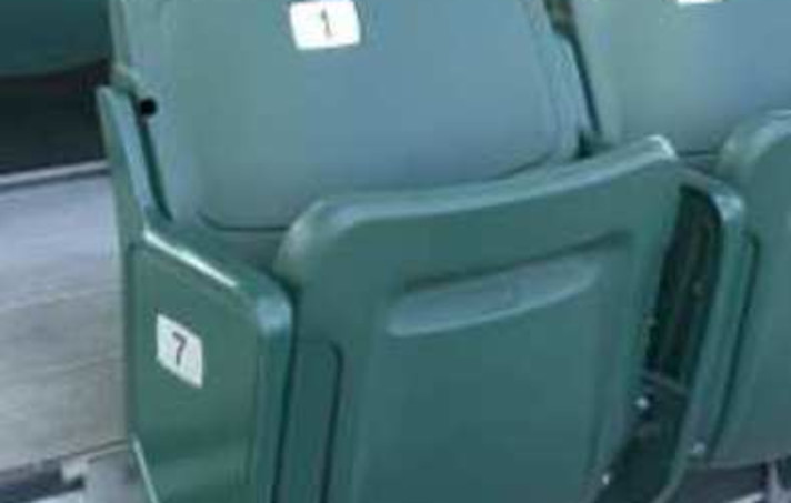 Green stadium chairs from Southern Bleacher Co.