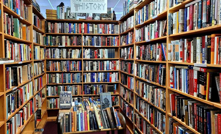 Pauper's Books aisle from Good Vibes article.