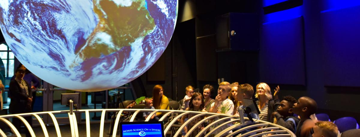 Science on a Sphere at Science Central