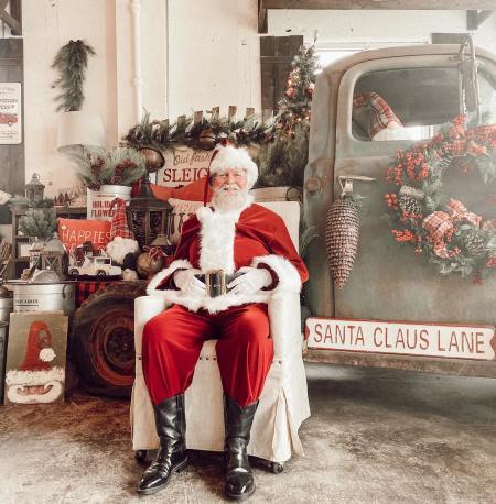 Santa at The Faded Farmhouse