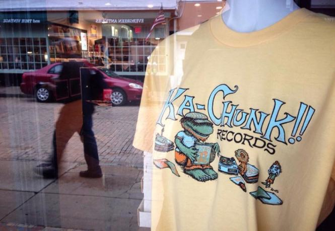 Ka-Chunk T-Shirt in Shop window.