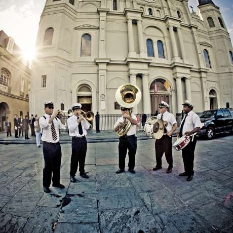 Brass Band at the St. Louis Cathedral