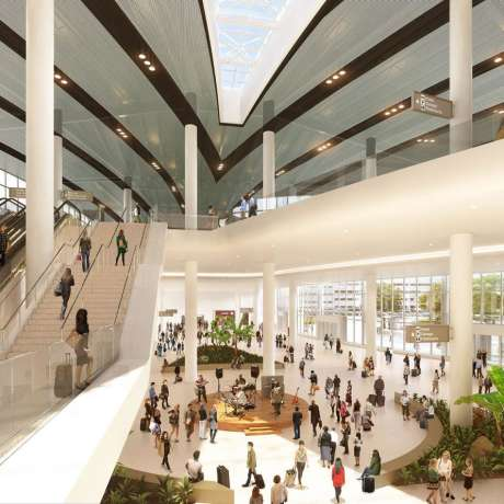 The Jazz Garden at the new Louis Armstrong International Airport