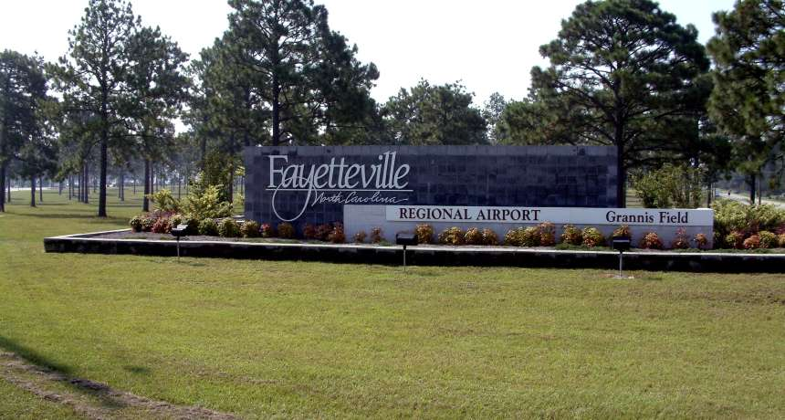 Fayetteville regional airport sign