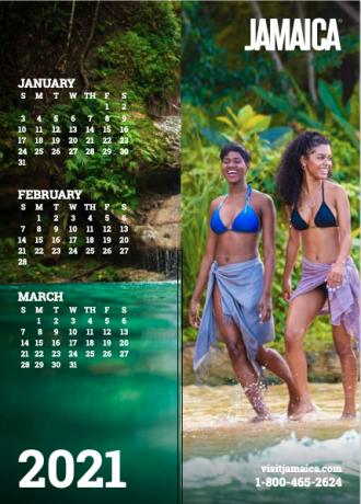 Calendar - Jan to Mar 2021