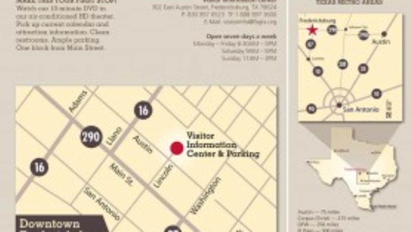 Fredericksburg Visitor Information Center Map Thumbnail
