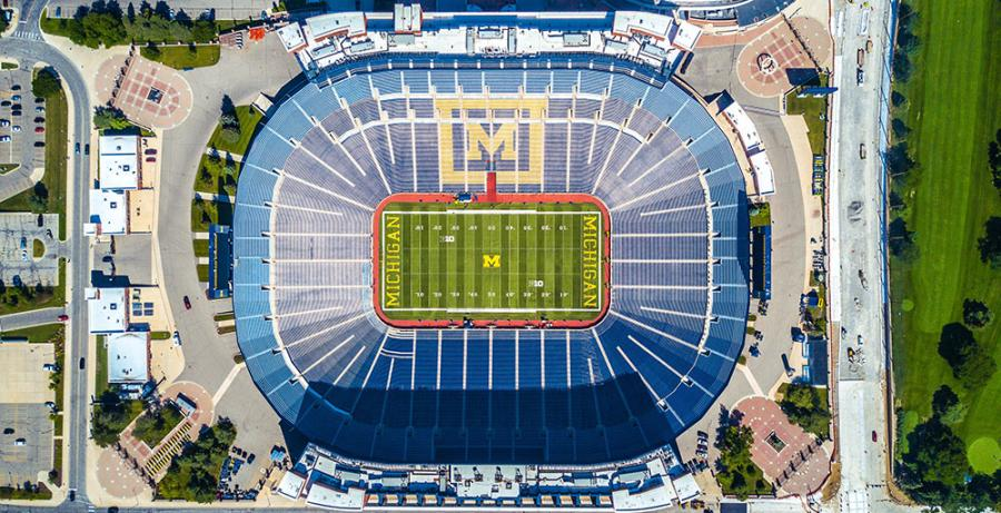 Michigan Stadium from Above