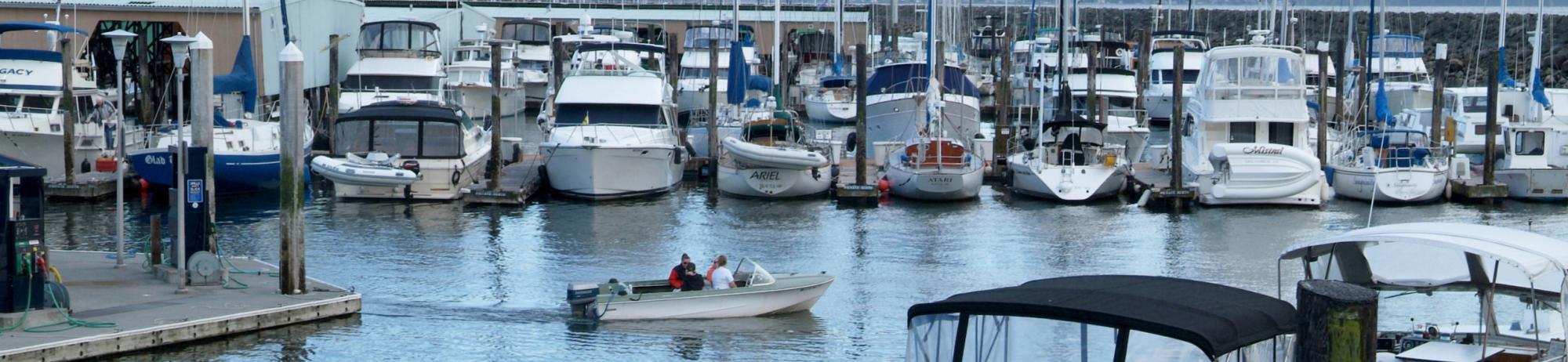 Boats Moored at Des Moines Marina
