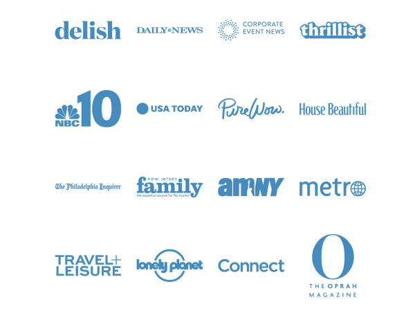 Logos of Publications who have featured Discover Lehigh Valley