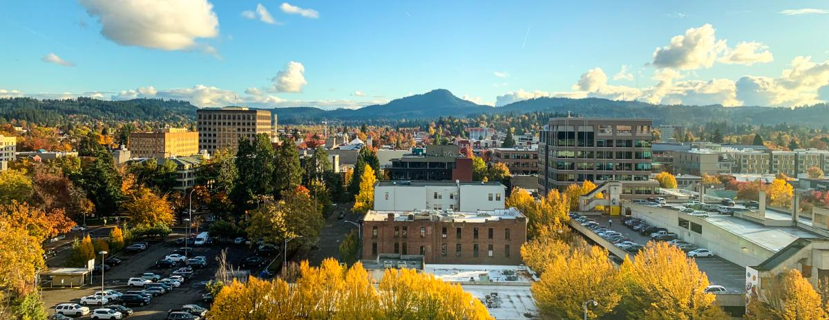 Downtown Eugene in the Fall by Melanie Griffin