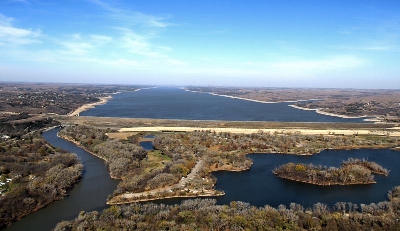 Tuttle Creek Aerial Shot