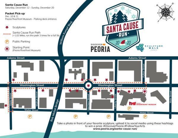 Santa Cause Run Race Map 2020