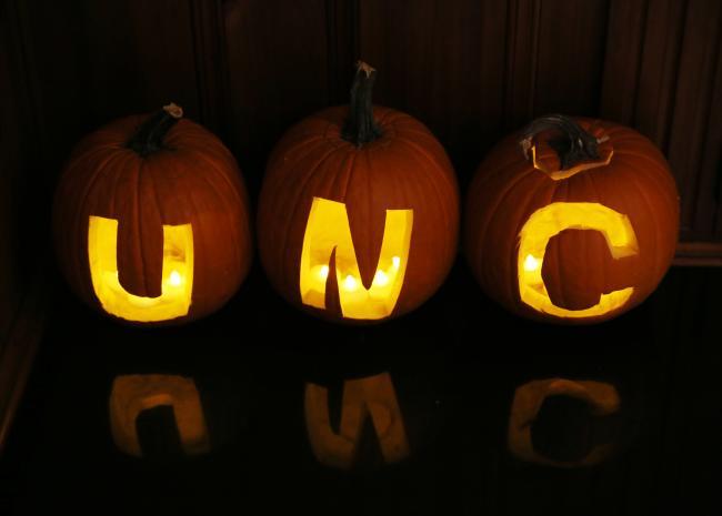 UNC Carved Pumpkins