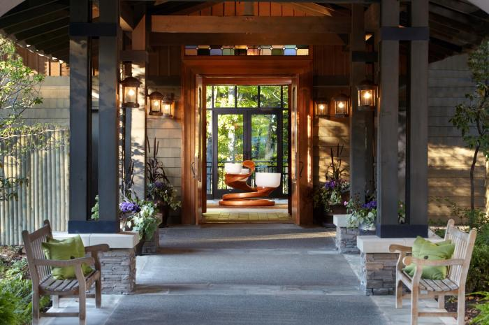 The Lodge at Woodloch Spa works with the Green Spa Network to incorporate sustainable practices into its operations.