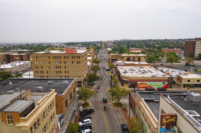 Downtown Casper Aerial View