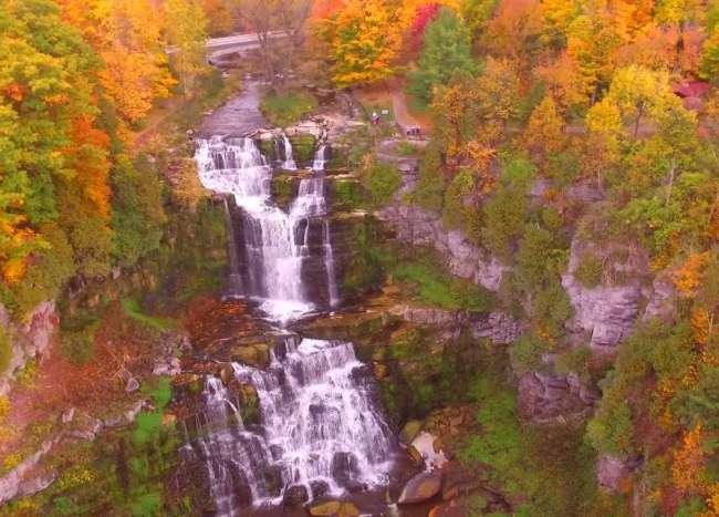 Fall at Chittenango Falls