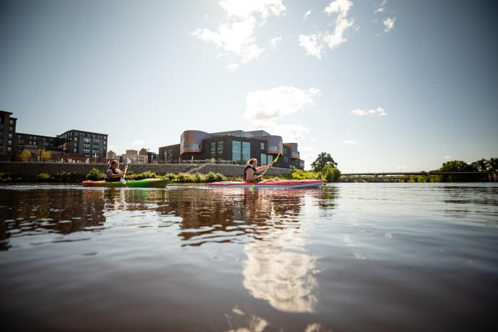 Kayaking at the Confluence of Eau Claire River and Chippewa River_photo by Travel Wisconsin