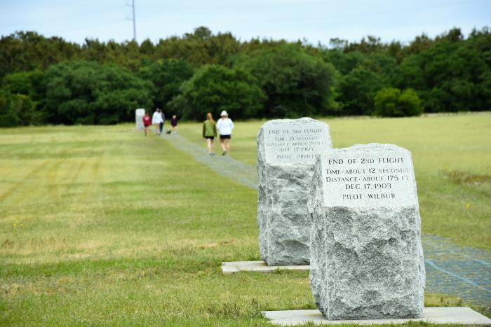A memorial to the Wright Brothers in Kill Devil Hills, NC