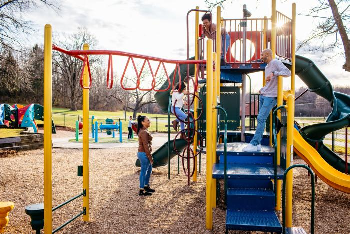 Levings Park playground in Rockford, IL