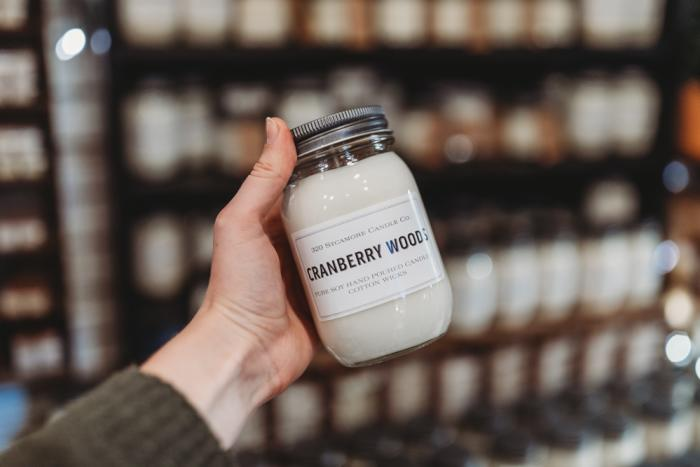 Cranberry Woods Candle at Joys