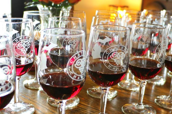 Wine at Chateau Chantal