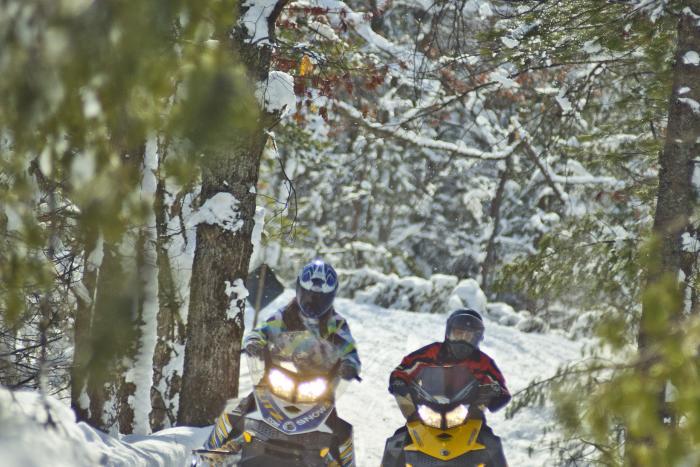 Snowmobiling in Northern Michigan