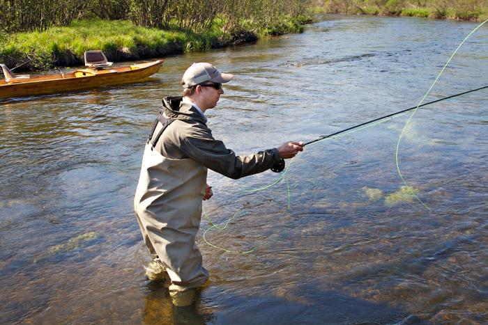 Flyfishing on Boardman River Spring
