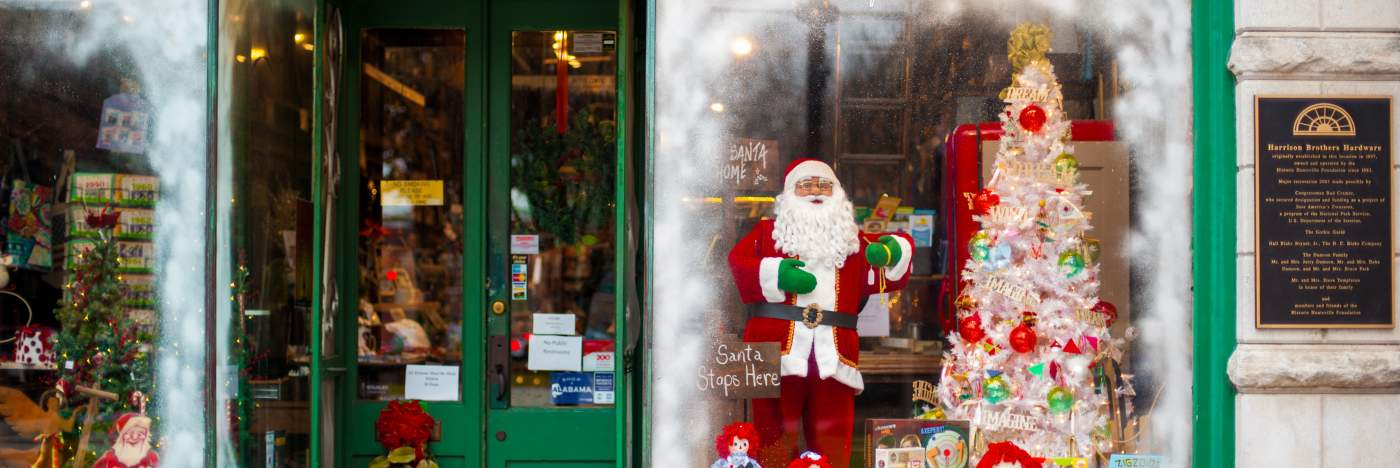 Harrison Bros- Christmas window