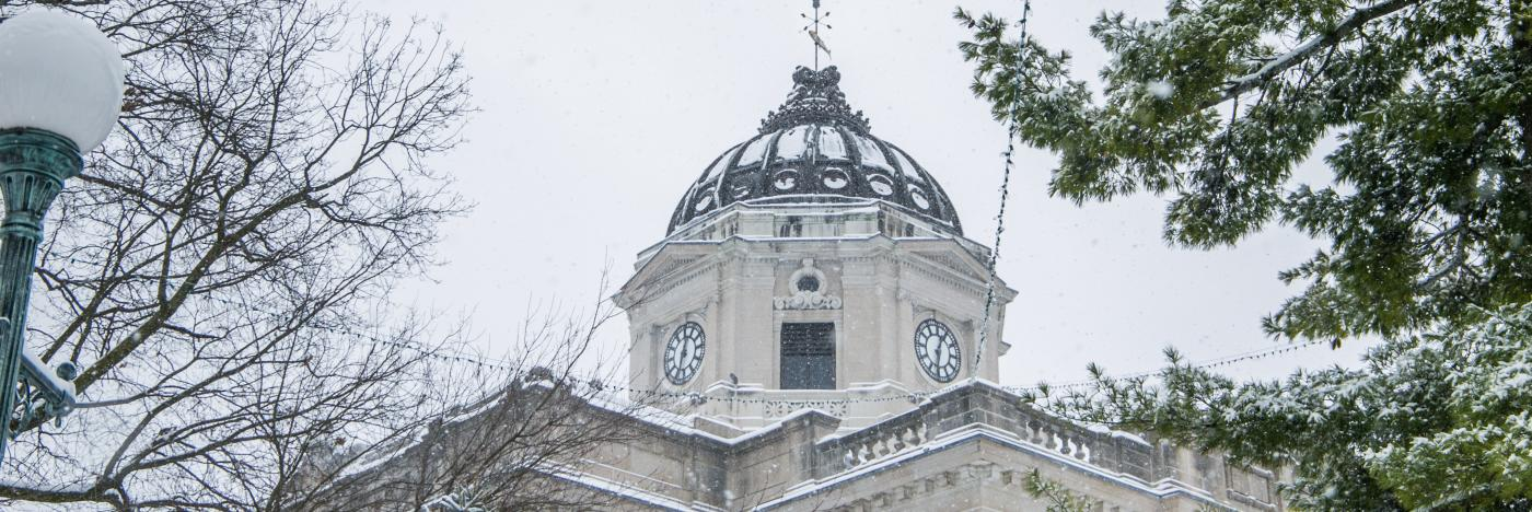 Bloomington Courthouse during Winter
