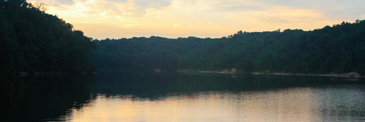 Lake Griffy - sunset