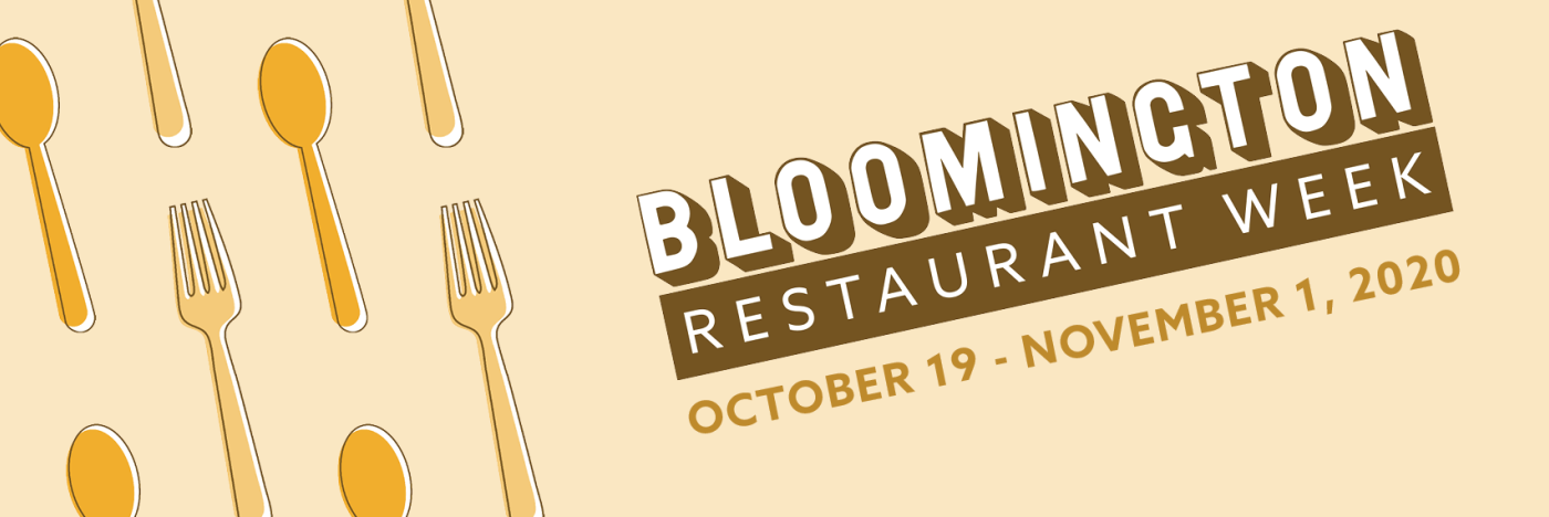 Bloomington Restaurant Week 2020 Logo with forks and spoons