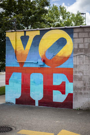 Vote Mural off of Water Stree in Eau Claire