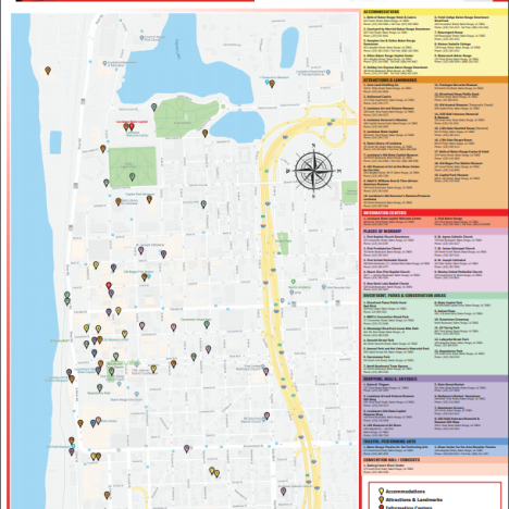 Map Of Baton Rouge Maps | Visit Baton Rouge