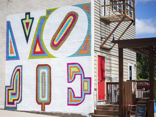 Vote Mural on Ramone's Ice Cream Parlor in Eau Claire WI