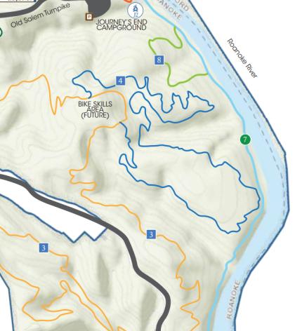 Explore Park Trail Map - Roanoke, VA
