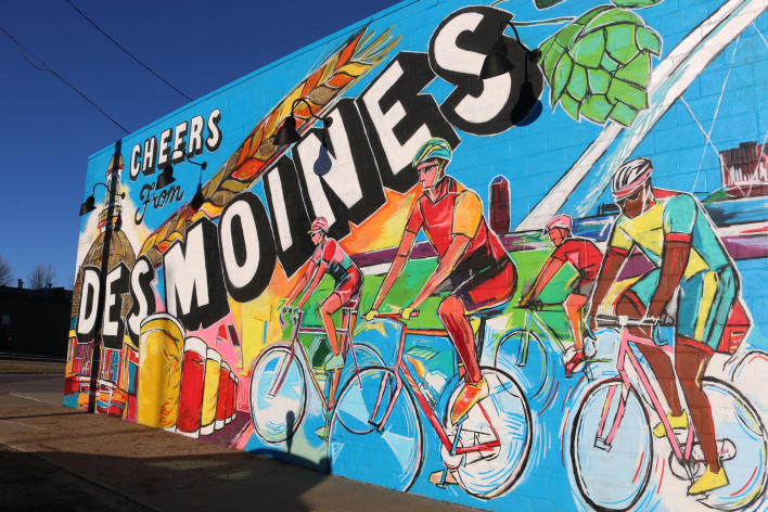 Exile Cheers from Des Moines Mural