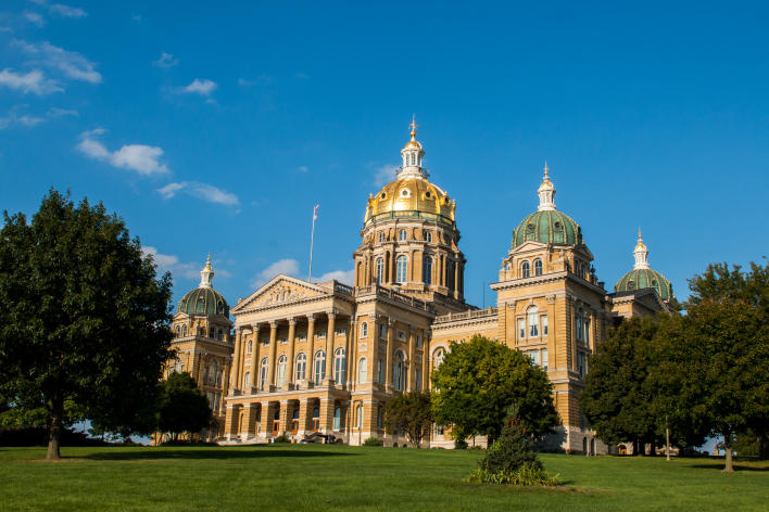 Exterior of the Iowa State Capitol