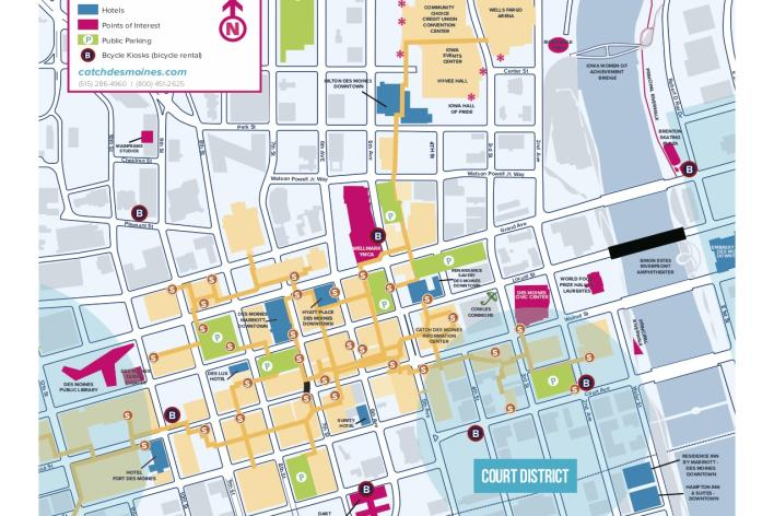 Greater Des Moines Maps | Downtown, Skywalk, Trail & Parking ...