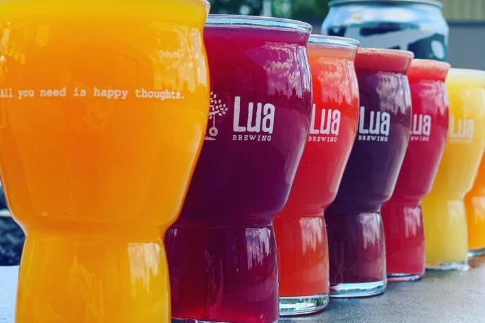 Colorful Drinks From Lua Brewing In Greater Des Moines, IA
